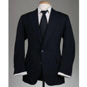 Vtg Hart Schaffner Marx Navy Pinstripe Wool Blazer